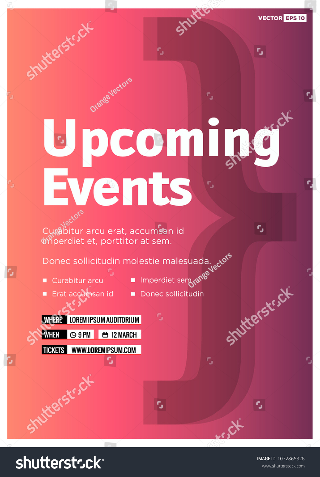 Upcoming Event Flyer Template from image.shutterstock.com