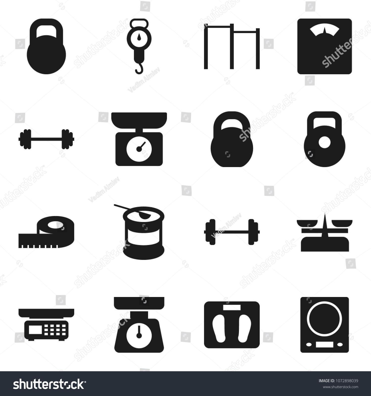 Flat Vector Icon Set Scales Vector Stock Vector 1072898039 ...