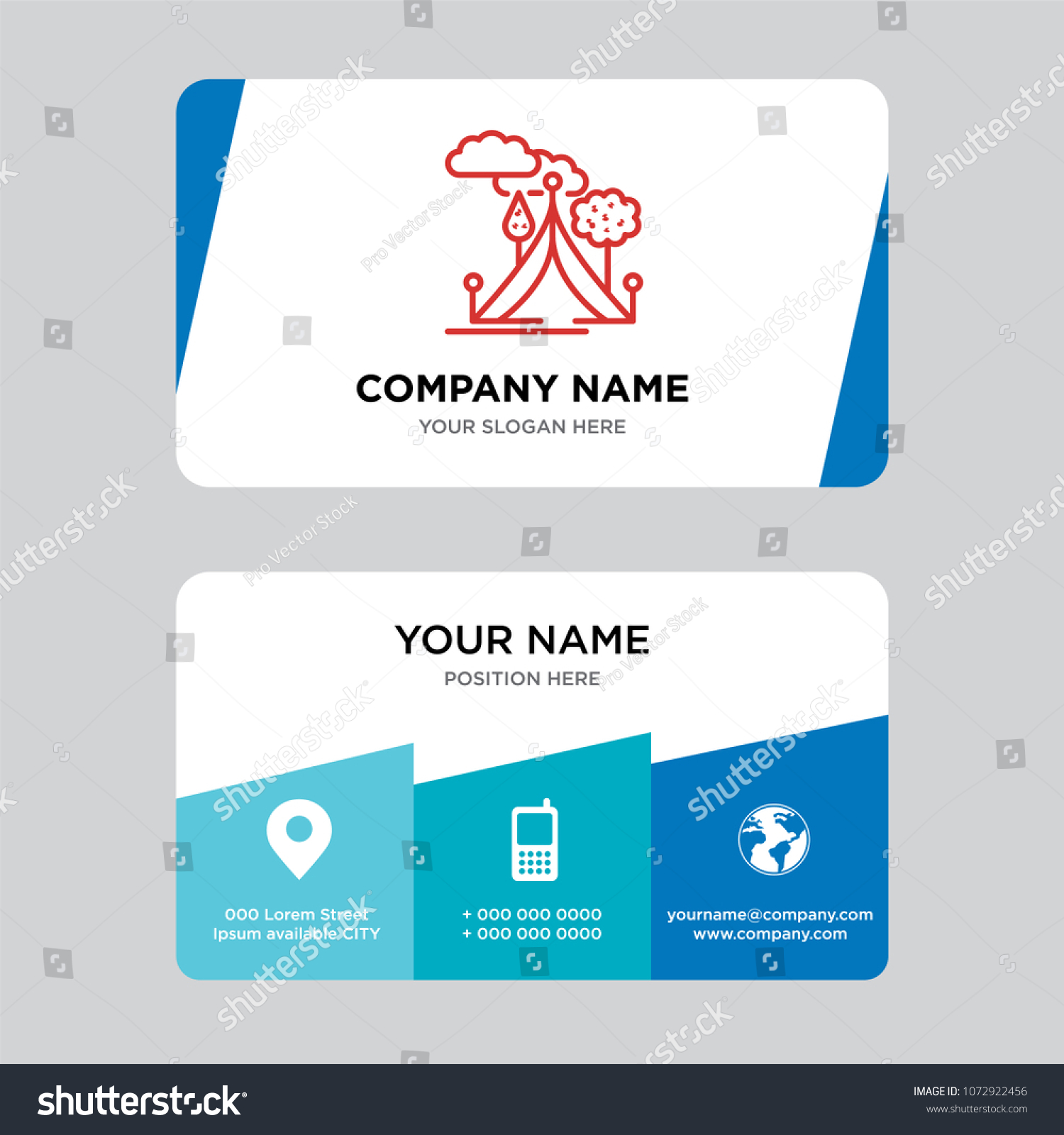 Tent Business Card Design Template Visiting Stock Photo (Photo ...