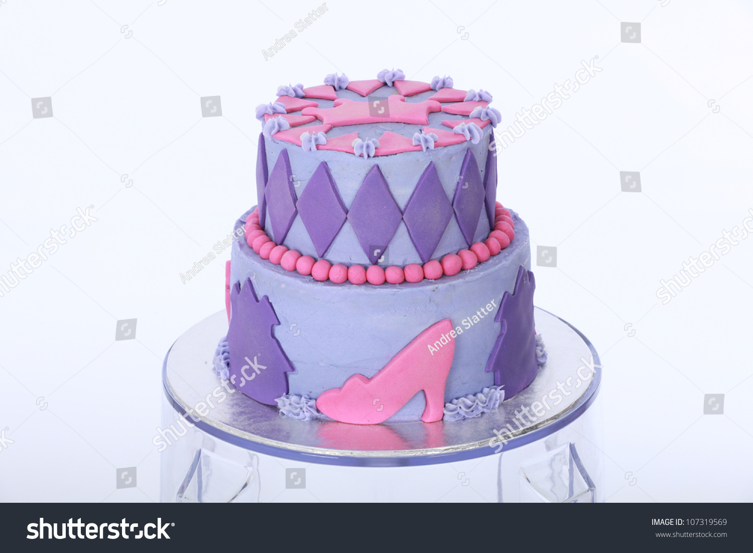 Beautifully Designed Decorated Two Double Tier Stock Photo Edit Now