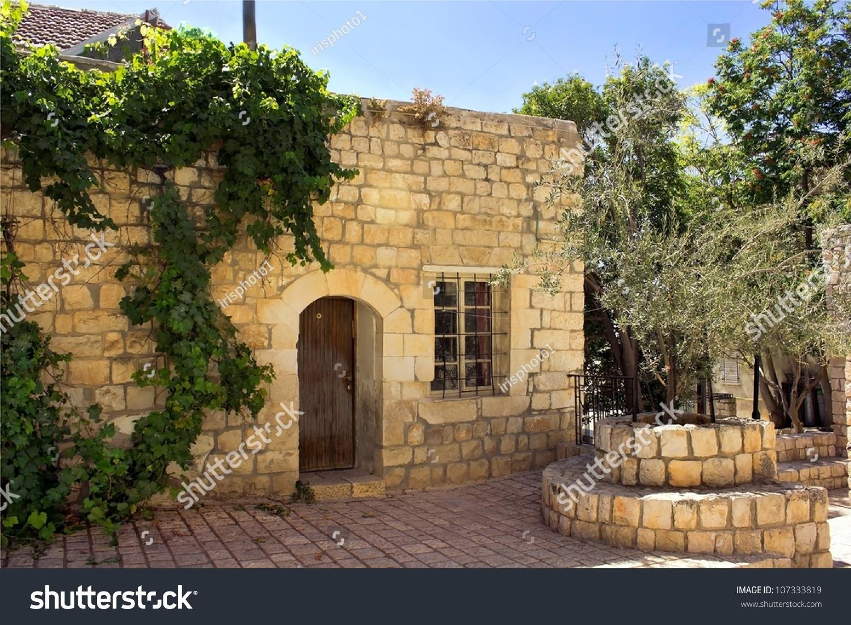 Old Stone House Jewish Religious Quarter Stock Photo