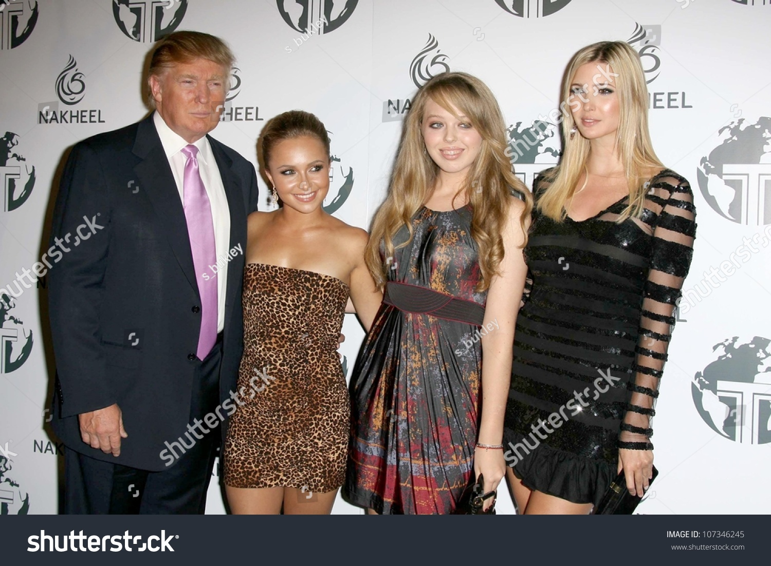 Donald Trump and Hayden Panettiere with Tiffany Trump and Ivanka Trump ...