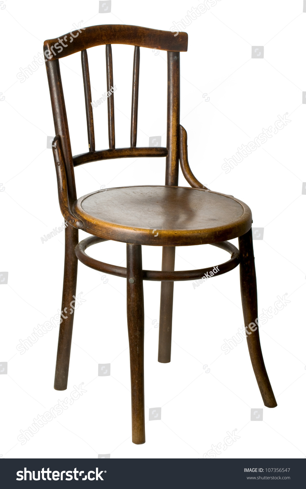 Old wooden chairs - Old Wooden Chair On White Background