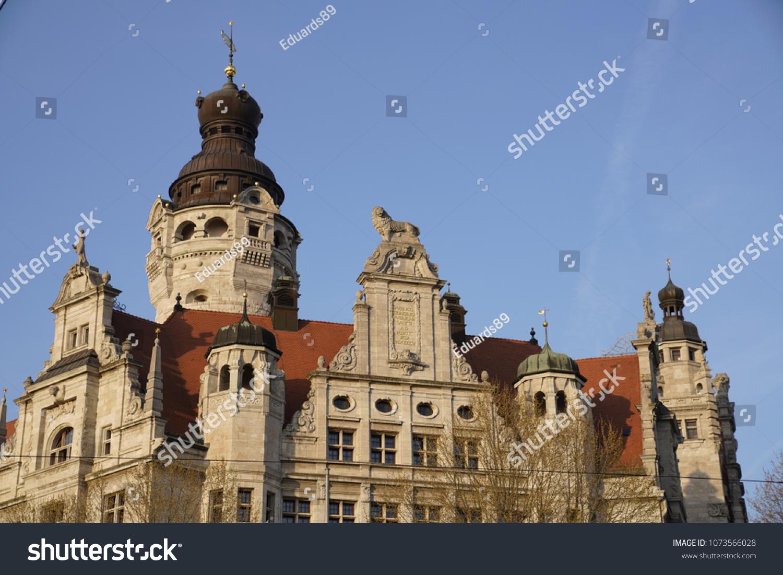 New Town Hall Neues Rathaus Leipzig Stock Photo Edit Now 1073566028