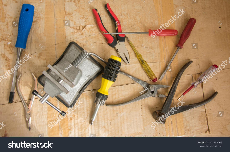 Small Portable Vice Screwdriver Tools Repair Stock Image