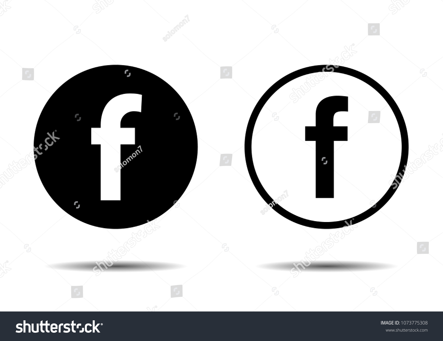 Set for letter F. Flat web icon or sign isolated on white background. #1073775308