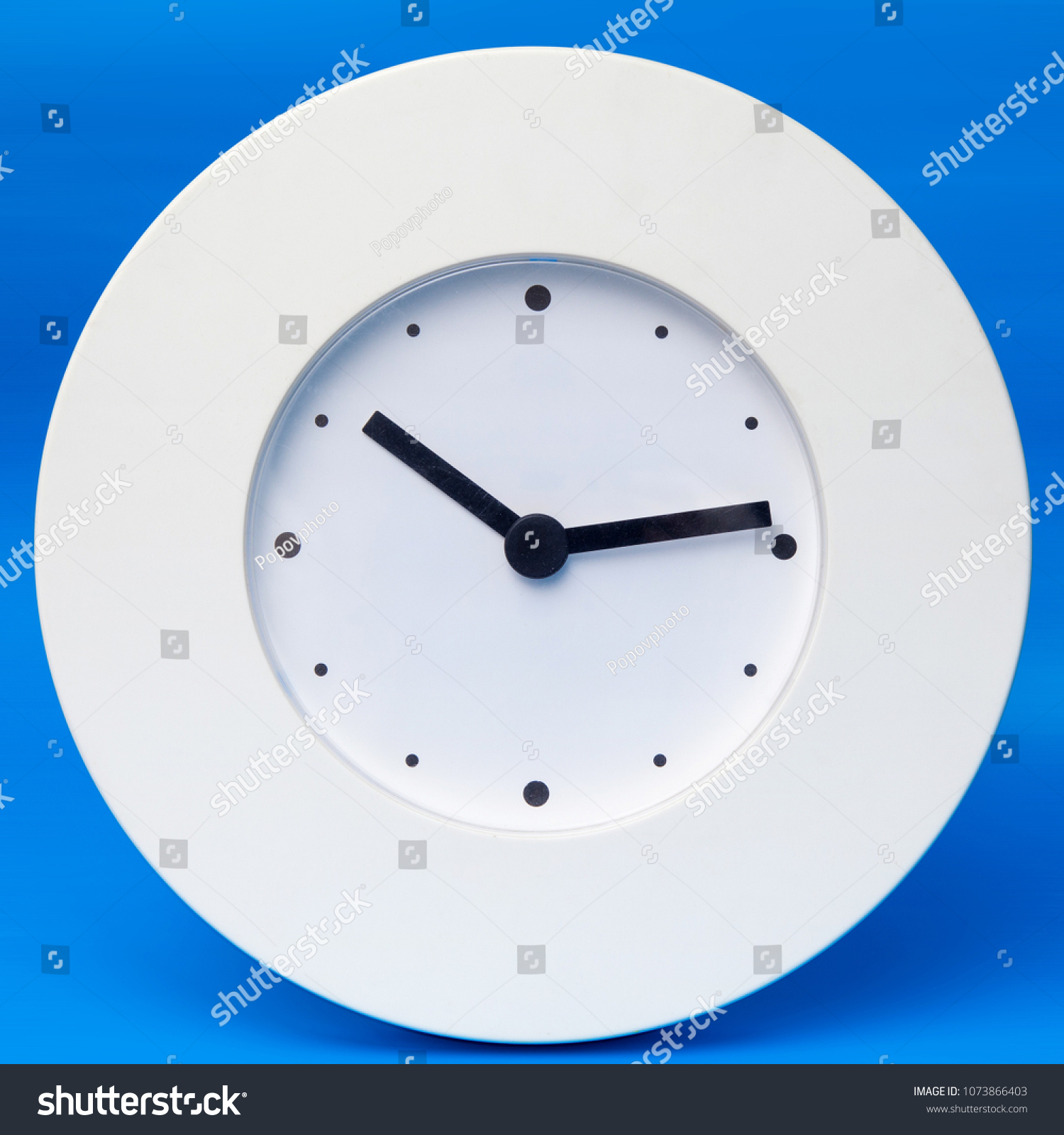 White Wall Clock Without Numbers Set Stock Photo Royalty Free