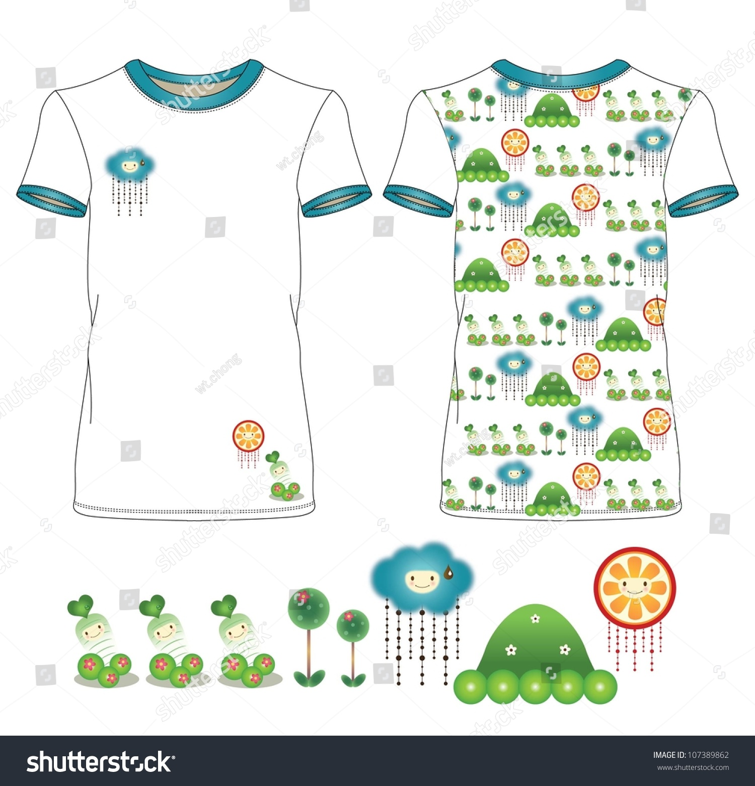 Casual sweet garden t shirt design stock vector for Garden t shirt designs