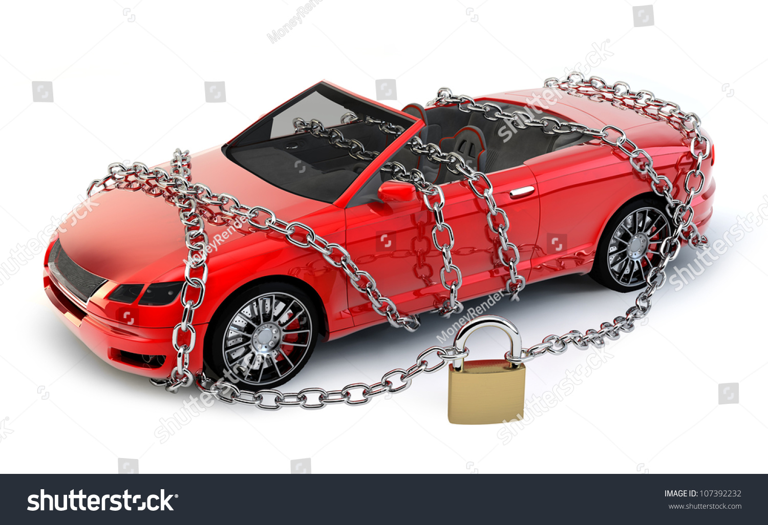Design my car - No Brand Car Protected Wrapped With Chain And Lock My Own Design No Trademarks
