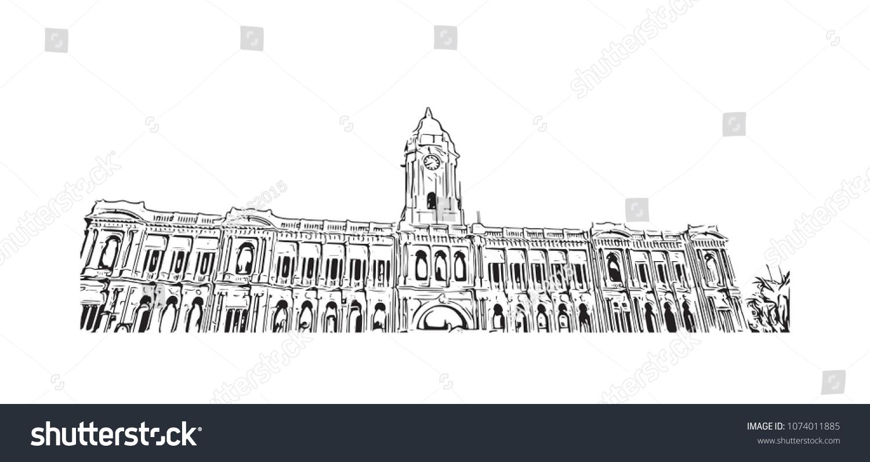 Chennai State Capital Tamil Nadu India Stock Vector (Royalty