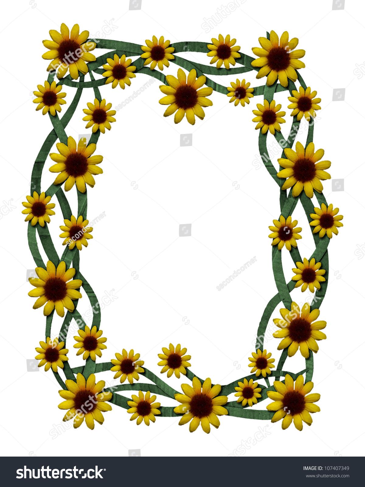 Vintage Cardboard Sunflower Frame Stock Illustration 107407349 ...