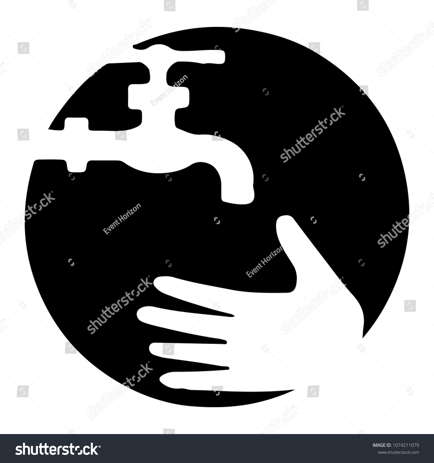 Wash Faucet Icon Hand Wash Sign Stock Vector Royalty Free
