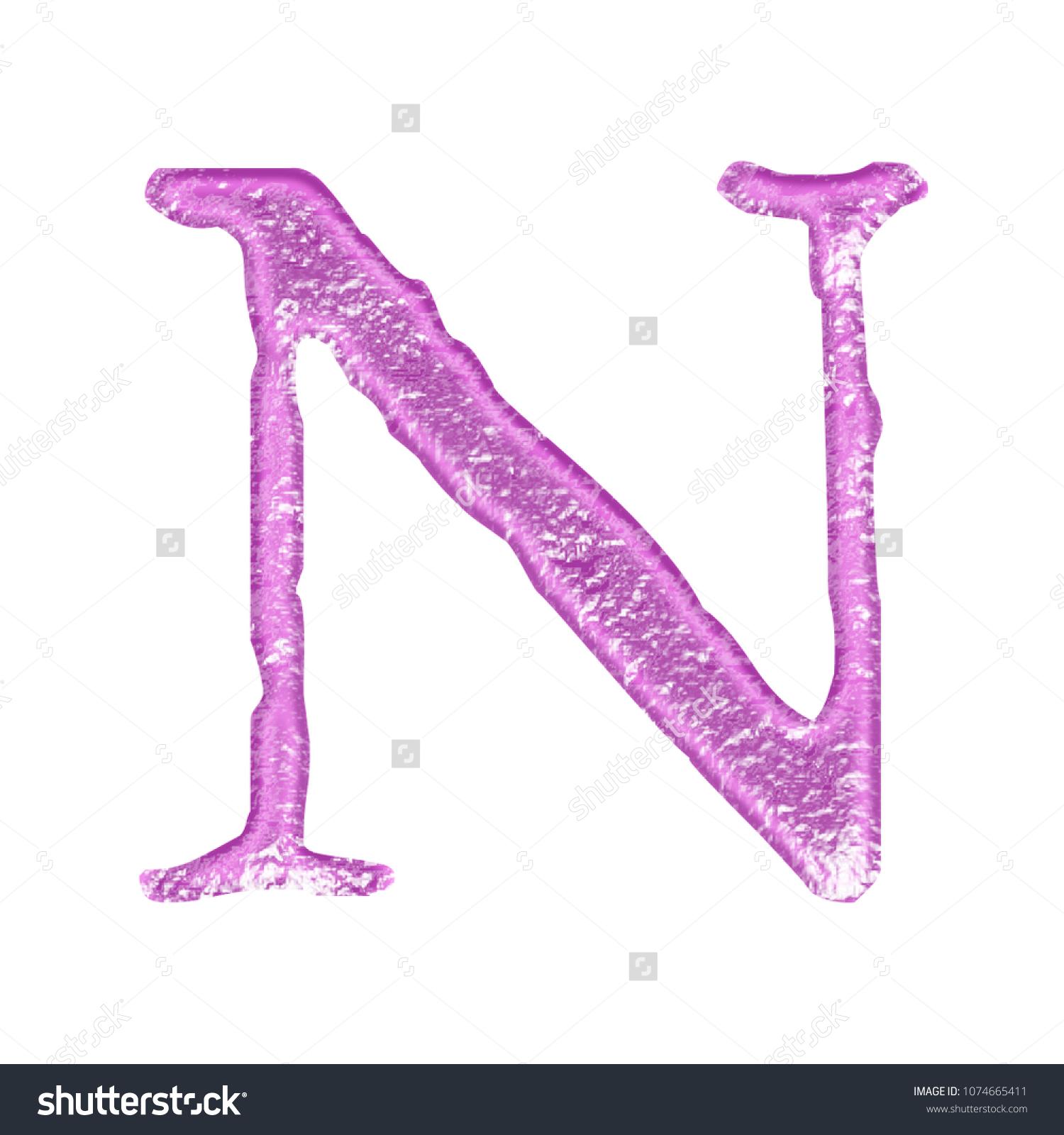 Rough Bright Pink Color Metal Letter Stock Illustration 1074665411 ...