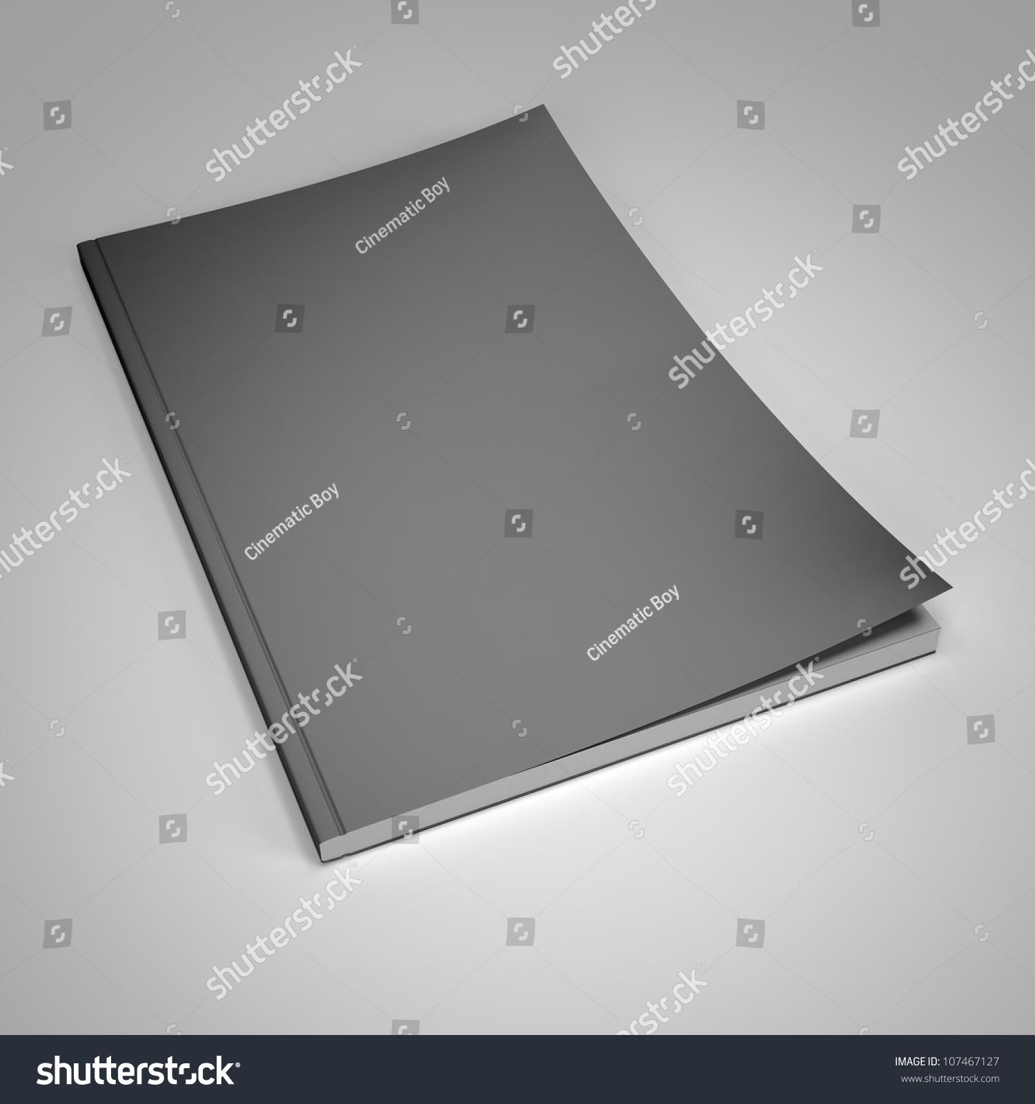 Magazine Blank Cover Template 3 D Render Stock Illustration ...
