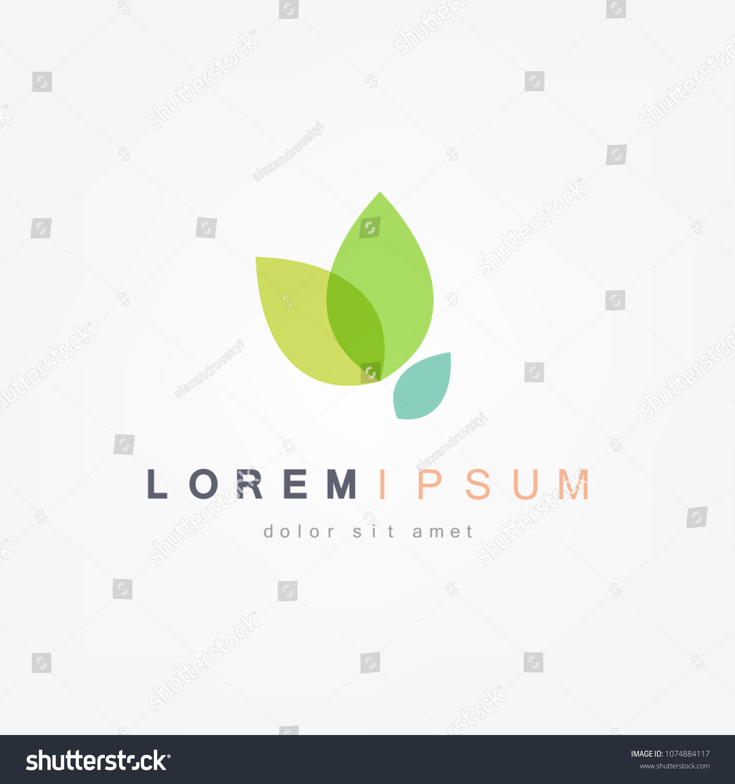 Green Leaf Icon Vector Illustrations #1074884117