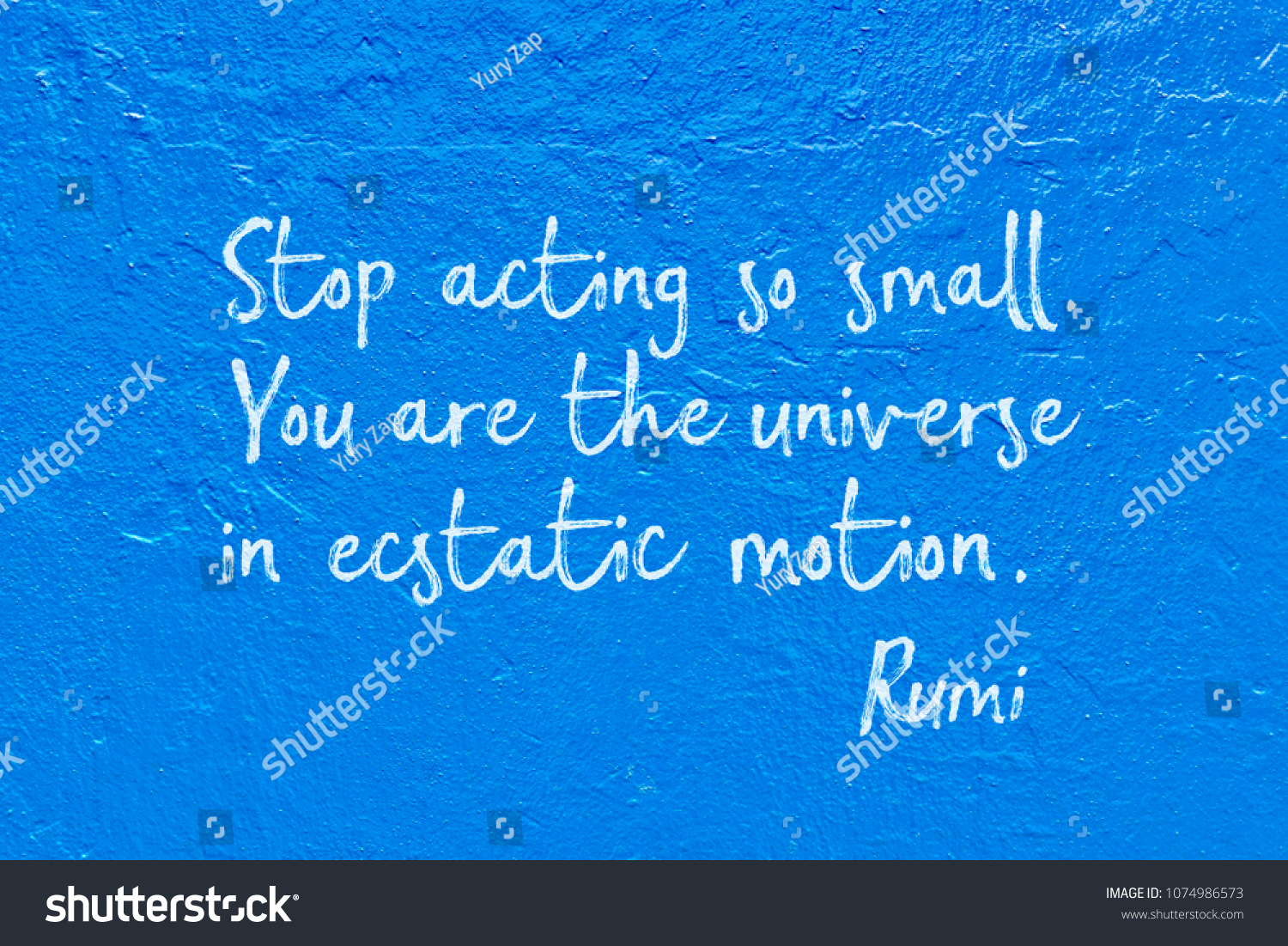 Stop Acting Small You Universe Ecstatic Stock Illustration Royalty