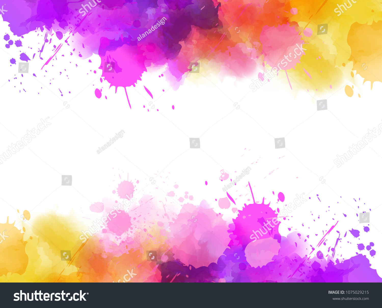 Abstract Background Banner Watercolor Splashes Frame Stock Vector (Royalty  Free) 1075029215