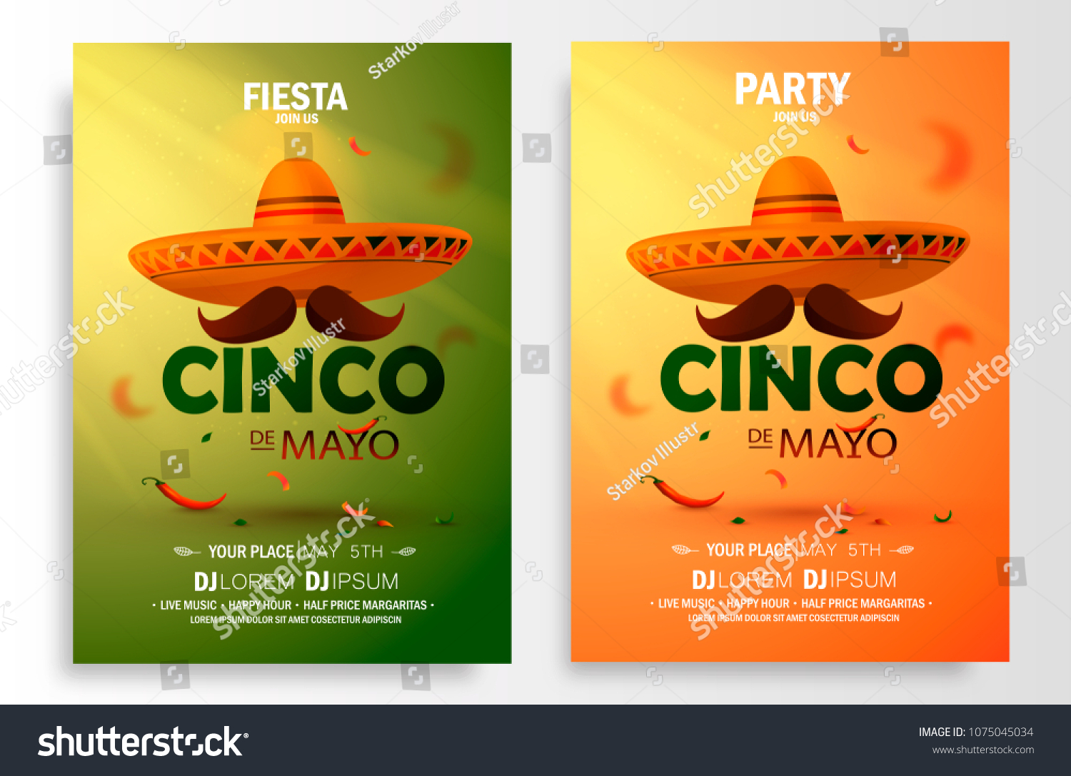 cinco de mayo poster design marketing stock vector royalty free