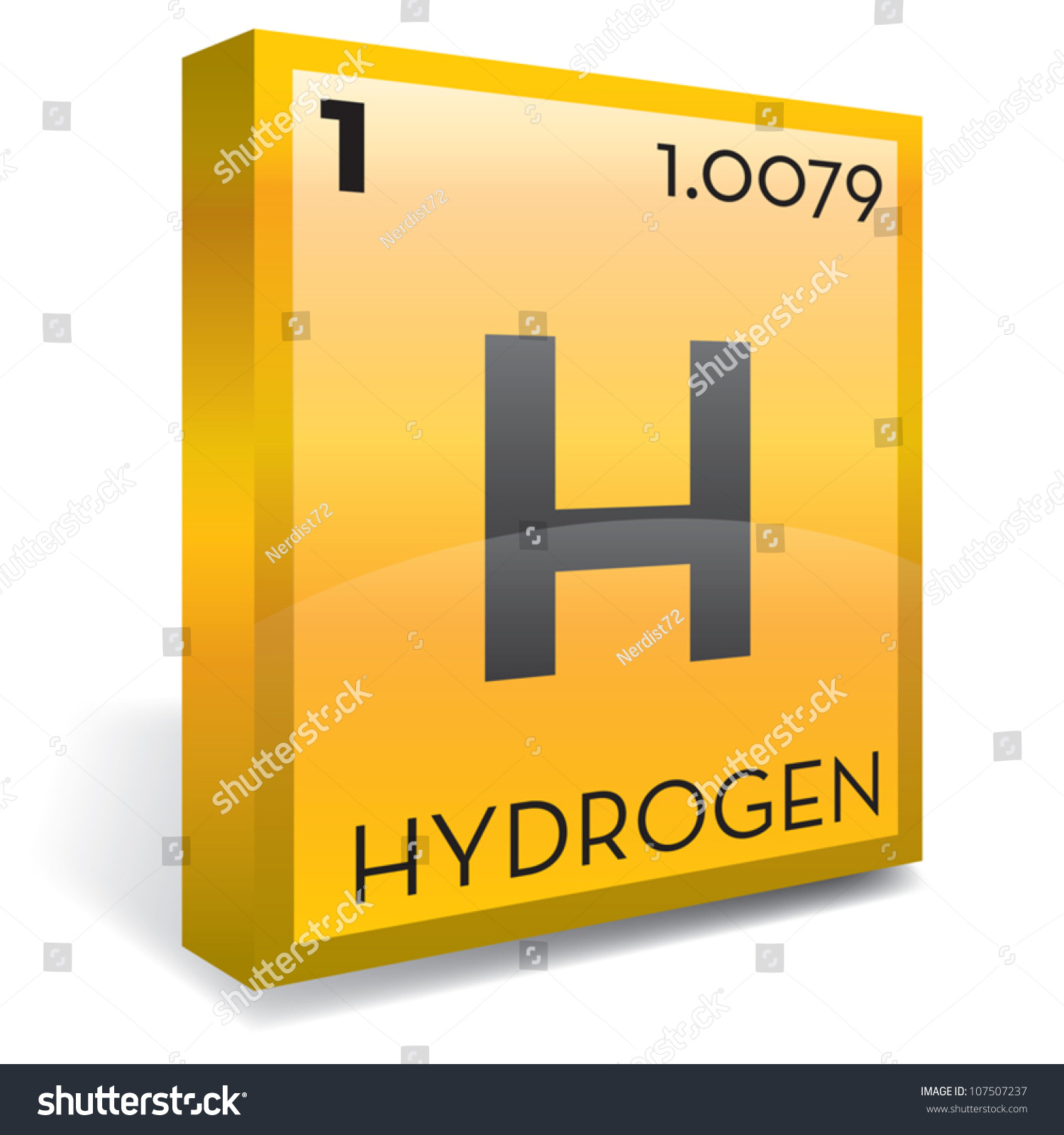 Hydrogen Element Periodic Table Stock Vector Royalty Free