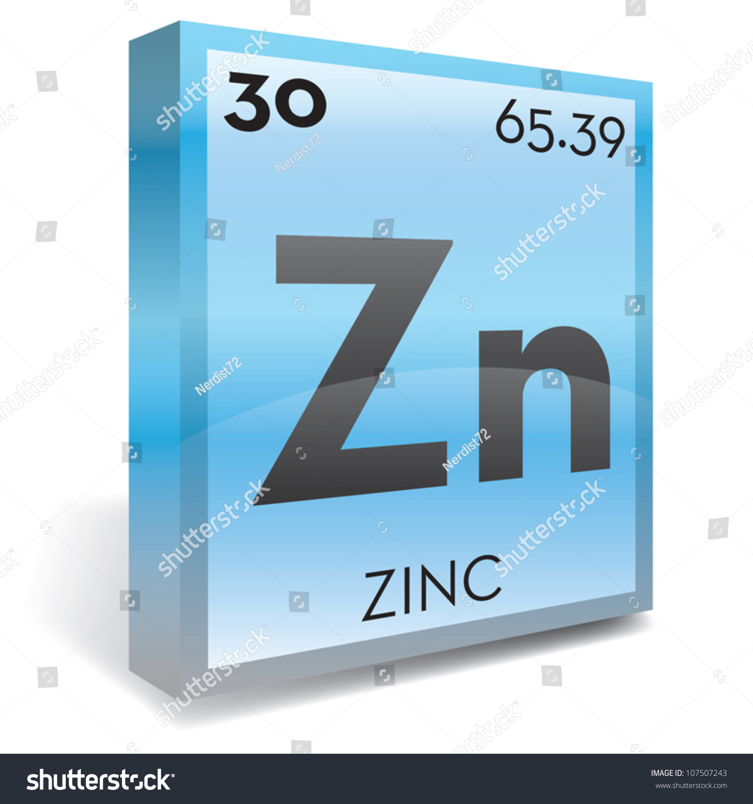 Zinc element periodic table stock vector 107507243 shutterstock zinc element periodic table gamestrikefo Image collections