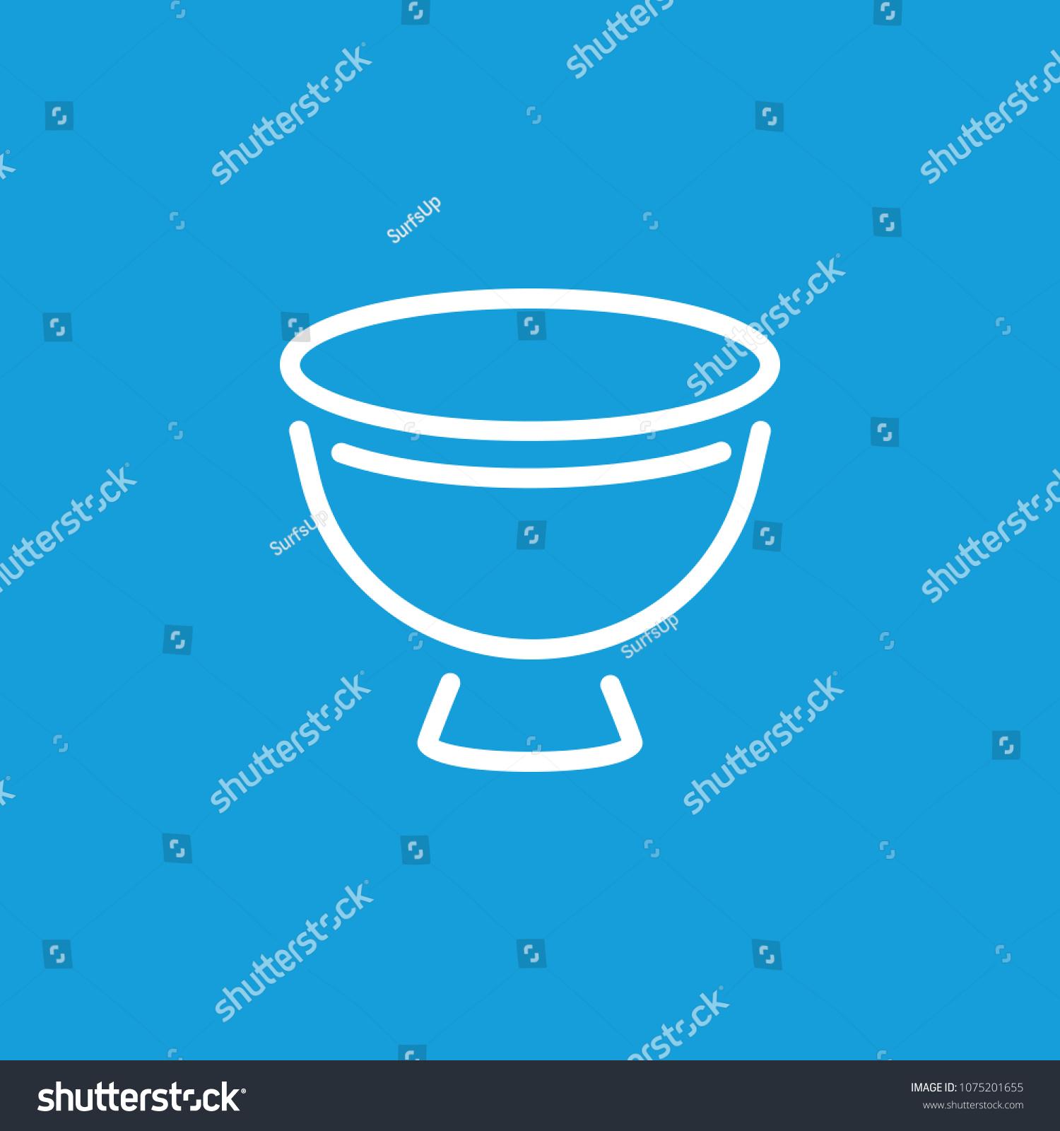 Line Icon Eggcup Utensil Crockery Dishware Stock Vector 1075201655 ...