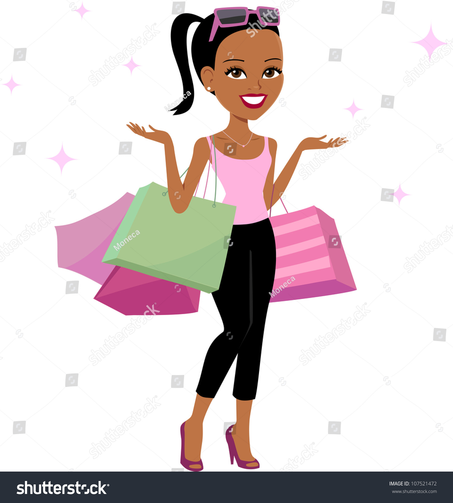 Women Shopping Cartoon Illustration - 107521472 : Shutterstock
