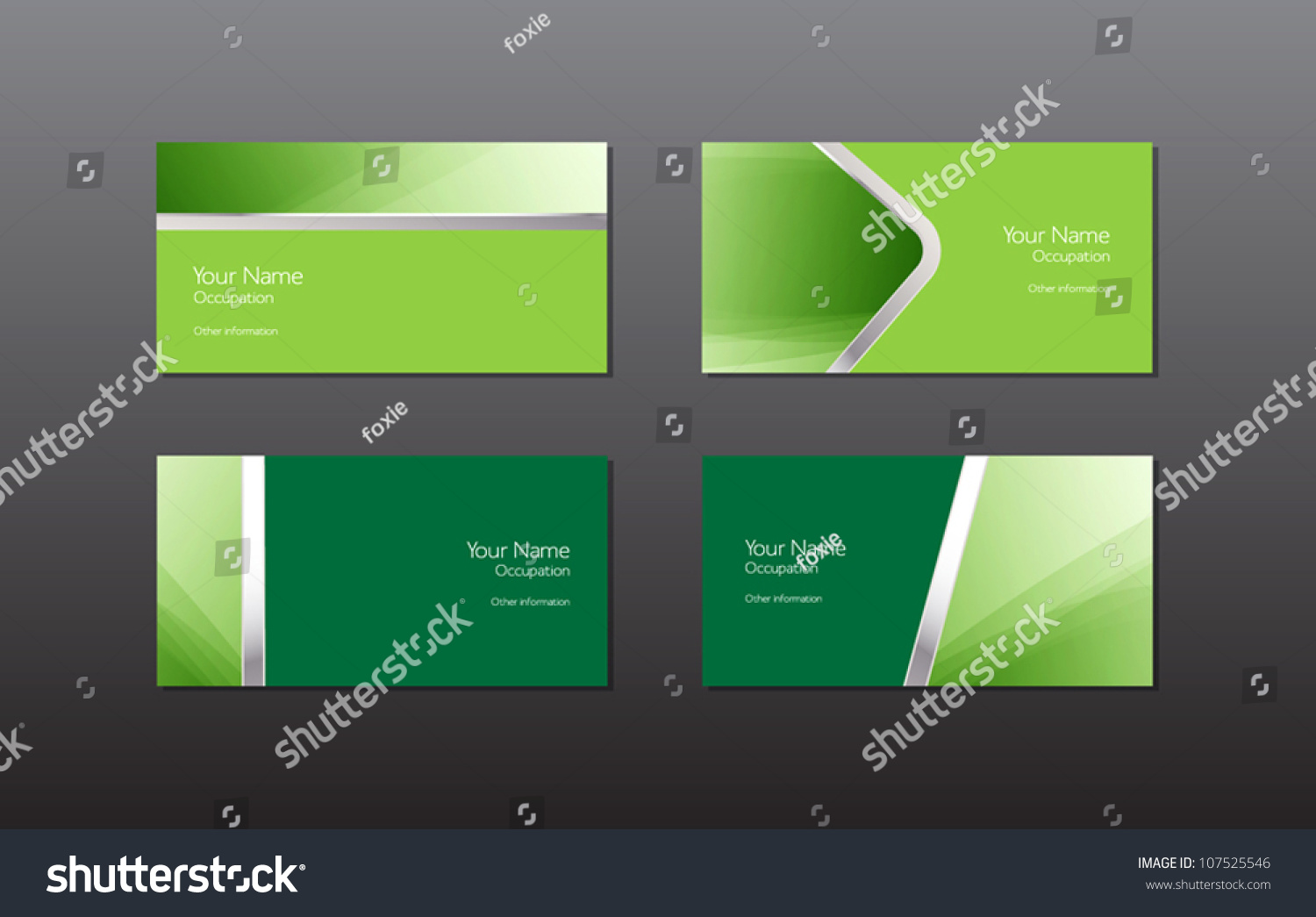 Abstract Green Vector Business Cards Banners Stock Vector ...