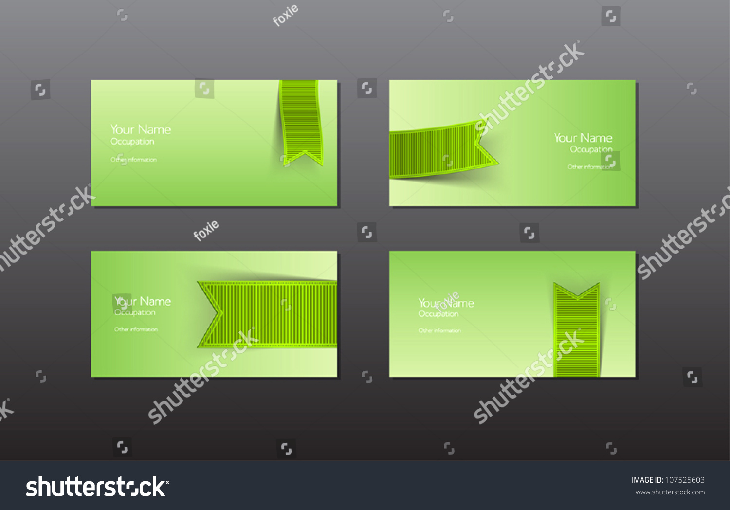 Abstract Vector Business Cards Banners Green Stock Vector ...