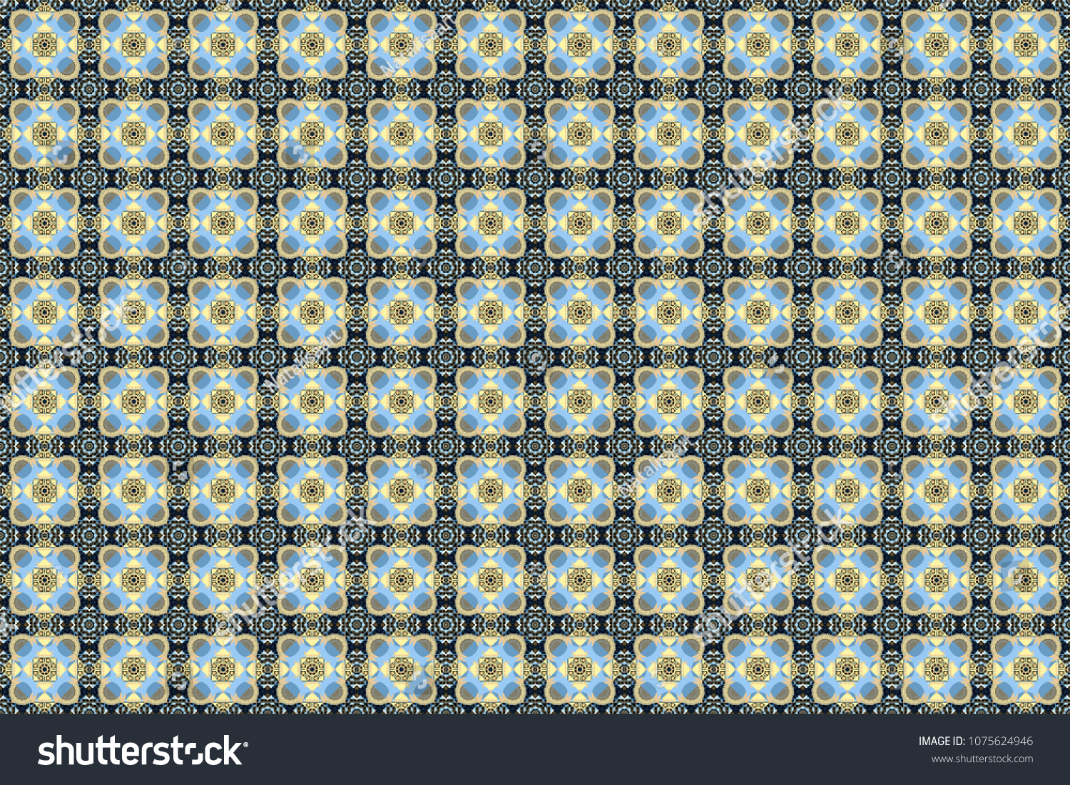 Geometric Repeating Wallpaper Raster Abstract Holographic Seamless Pattern In Blue