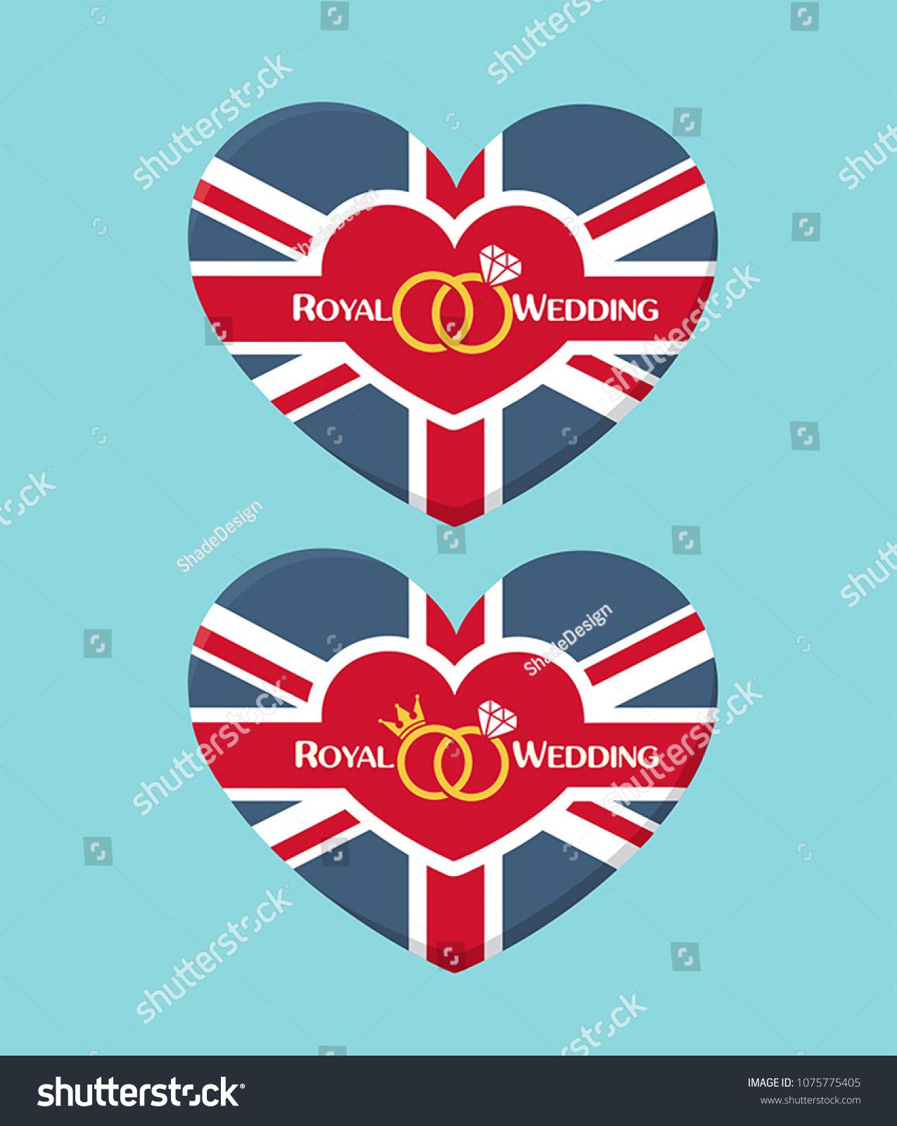 Icon Wedding Invitation Form Heart Textured Stock Photo (Photo ...
