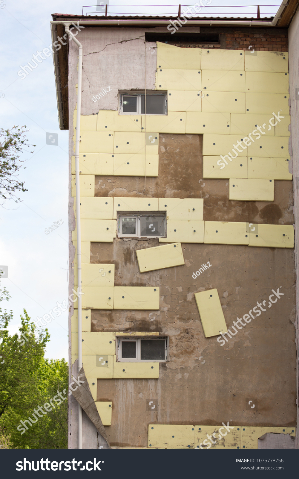 Quality insulation of the facade
