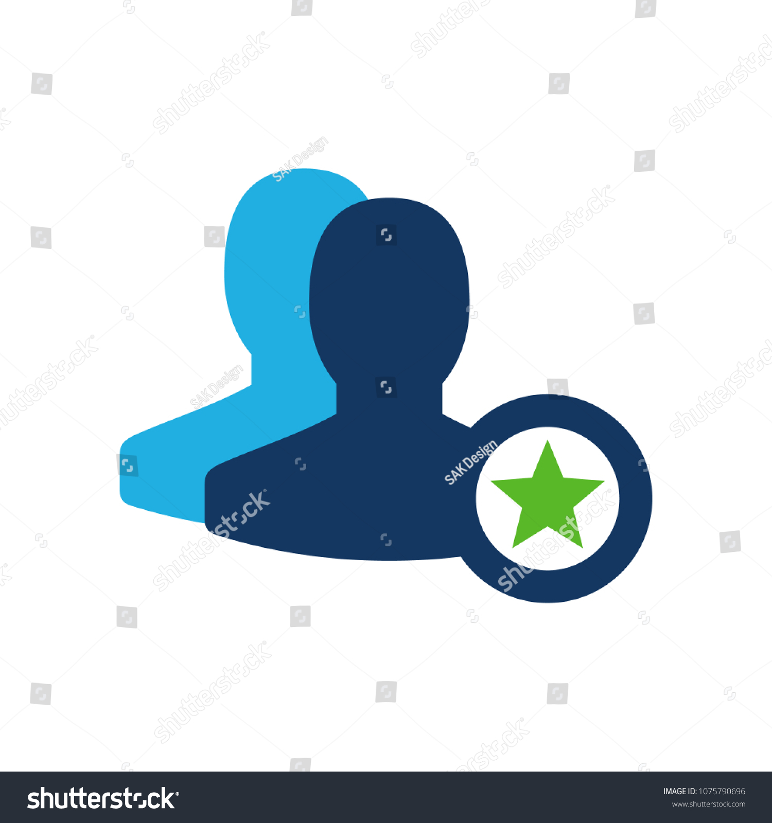 Shiny User Icon Design Stock Vector (Royalty Free