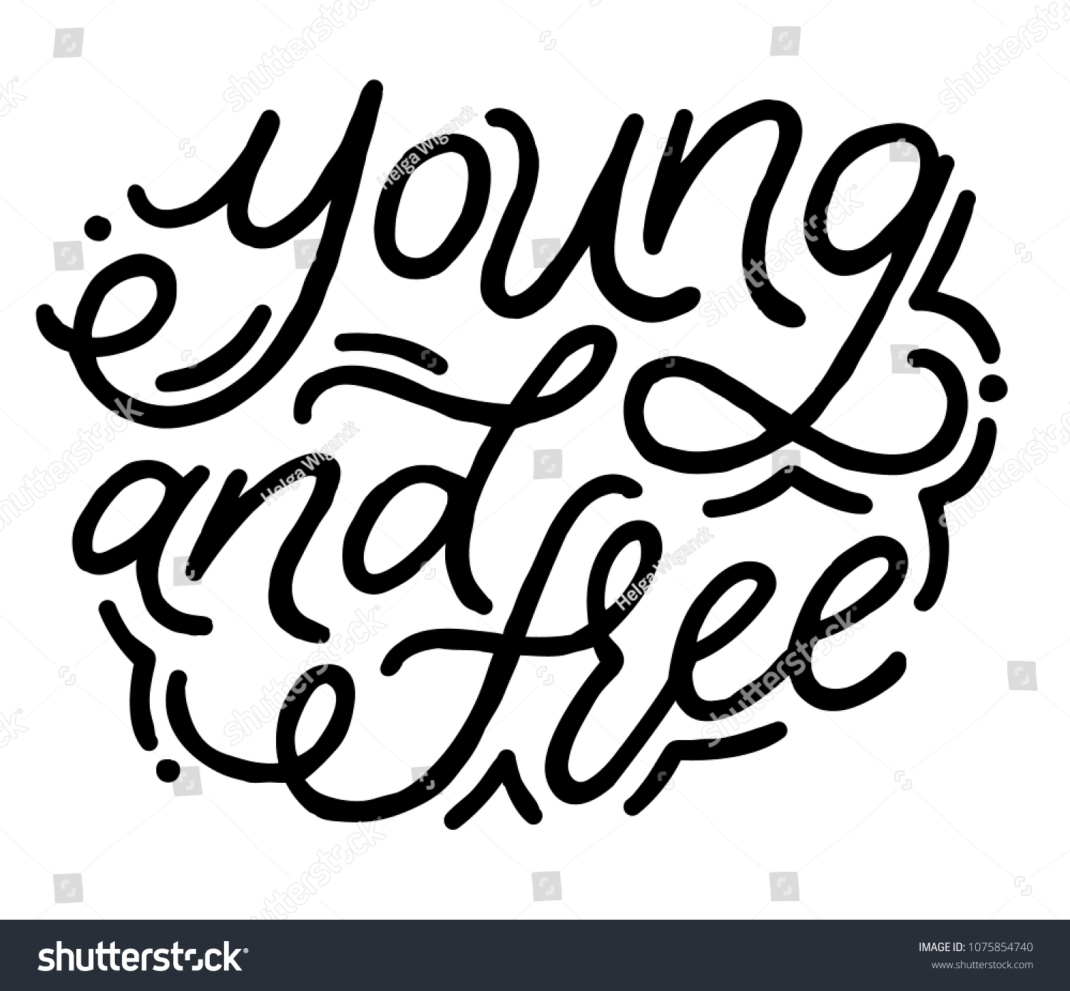 Young Free Hand Drawn Vector Lettering Stock Vector Royalty Free