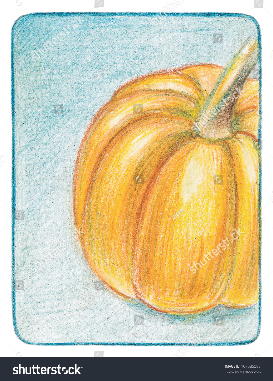 How To Draw A Orange step by step with pencil marker easy