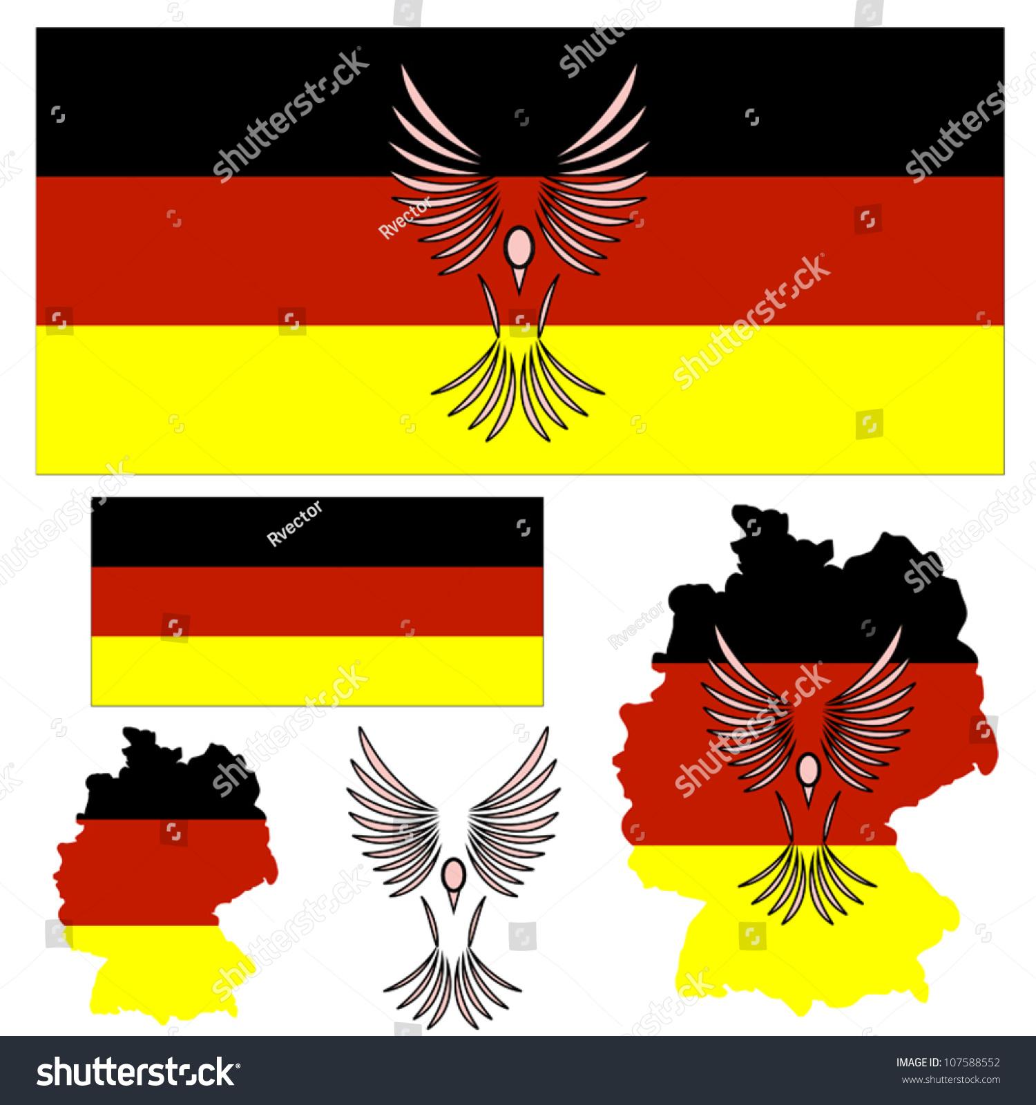 German flag symbol bird other elements stock vector 107588552 german flag and symbol of a bird and other elements sciox Choice Image