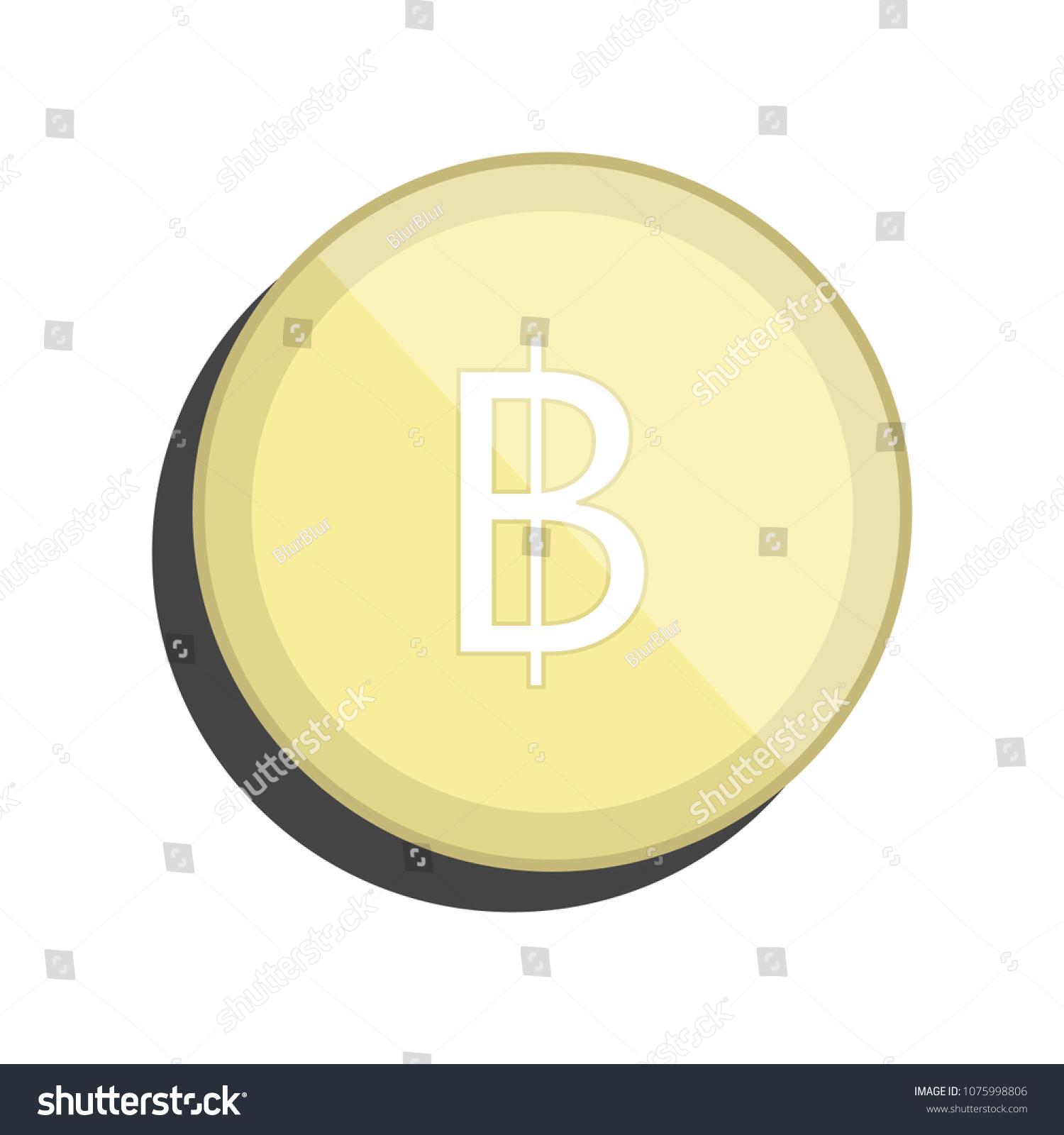 Baht Thailand Currency Symbol Coin Cartoon Stock Vector Royalty
