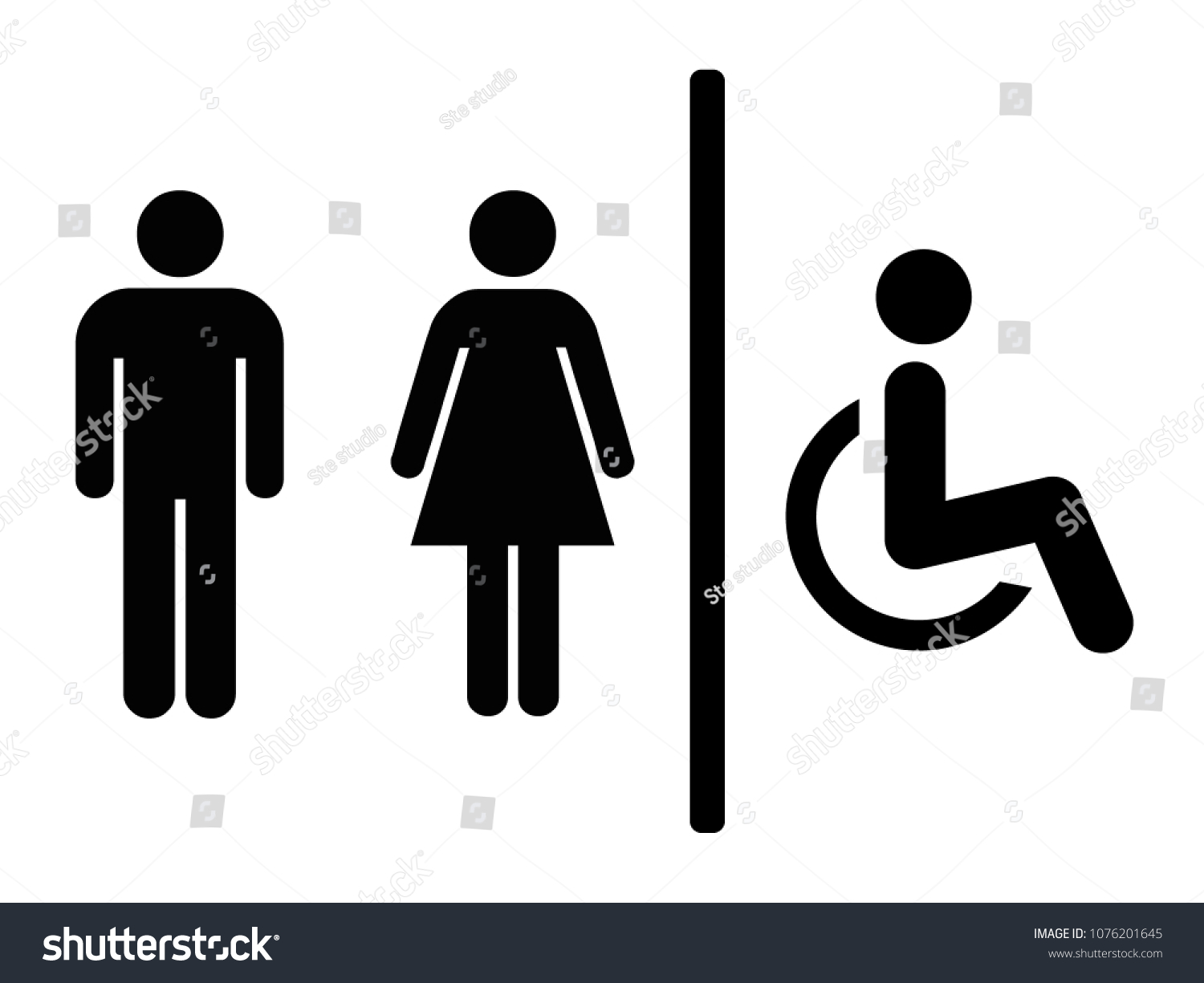toilet sign vector illustration stock vector royalty free 1076201645 shutterstock