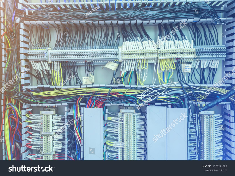 Wiring PLC S 7 Control Net Terminal Stock Photo (Edit Now ...