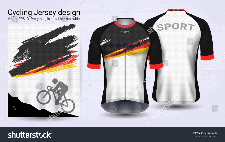 278a72c47bd Cycling Jerseys Short Sleeve Sport Mockup Stock Vector (Royalty Free ...