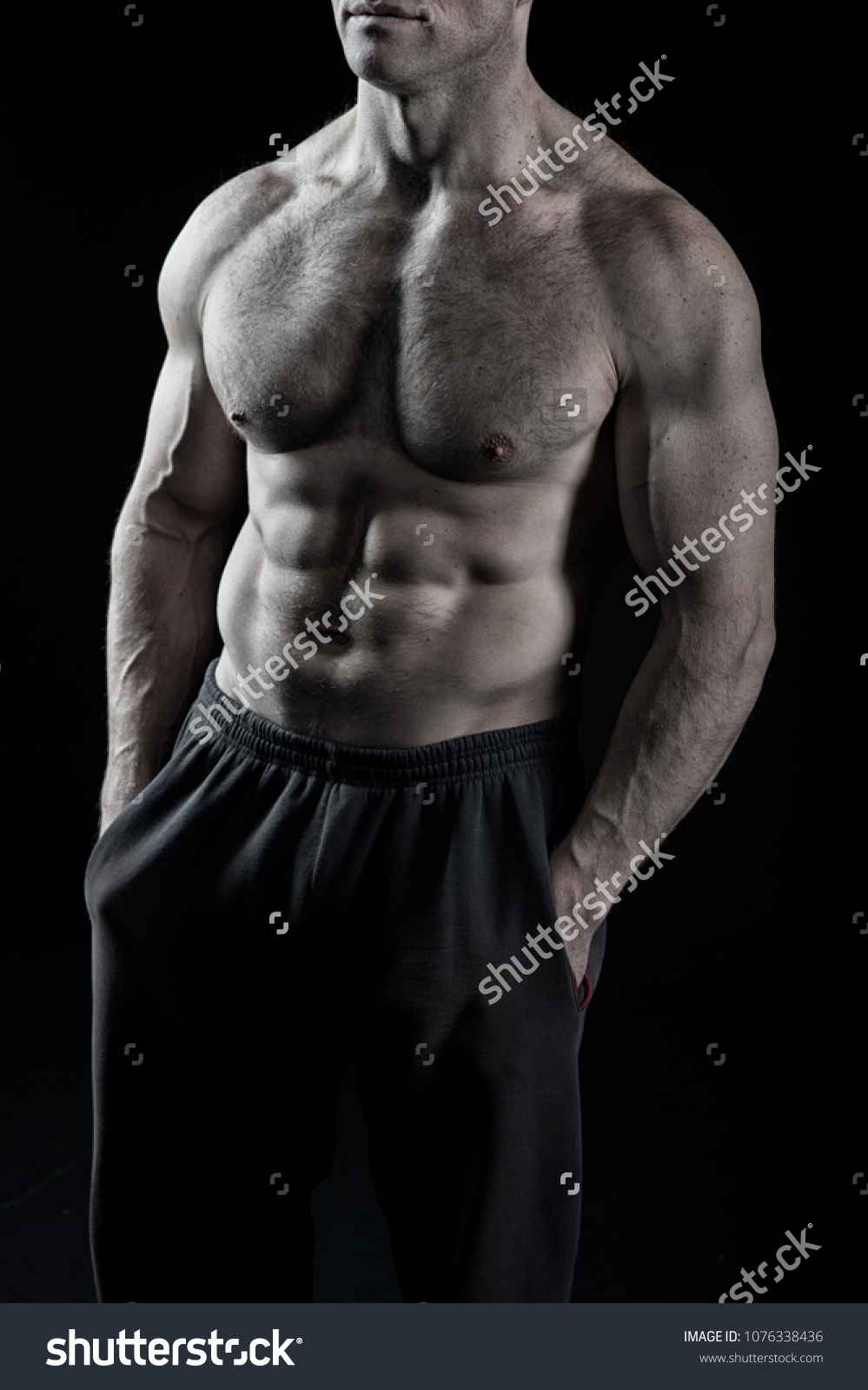 Fit Torso Six Pack Ab Muscles Stock Photo Edit Now 1076338436
