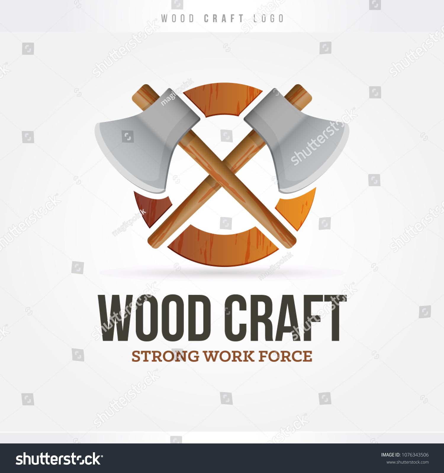Wood Craft Logo Stock Vector Royalty Free 1076343506 Shutterstock
