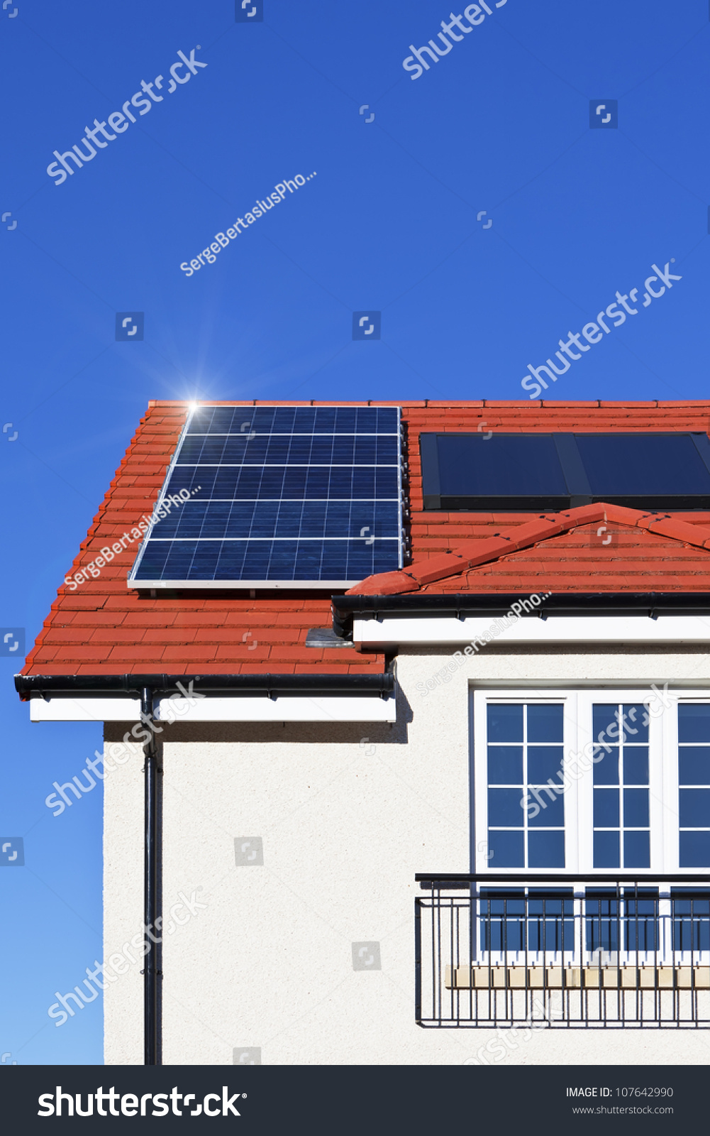 Alternative Energy Photovoltaic Solar Panels On Stock Photo ...