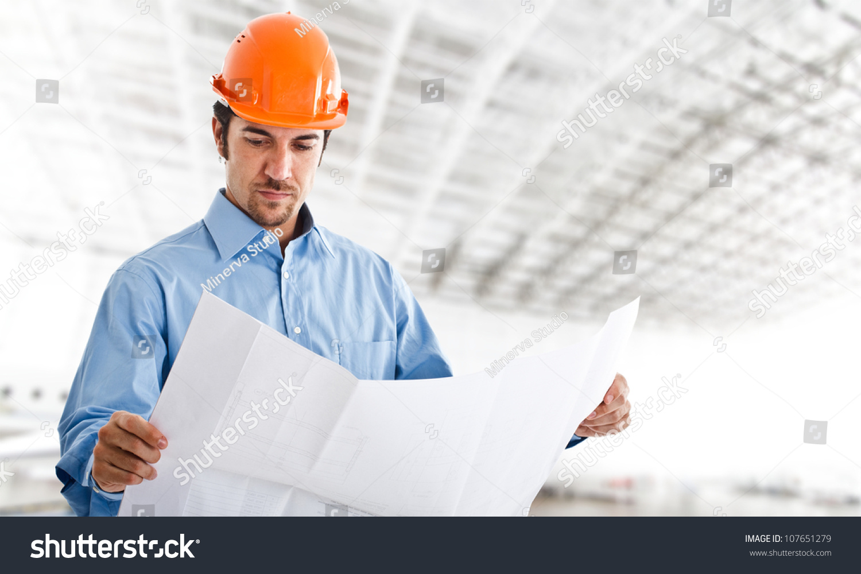 portrait handsome engineer work stock photo edit now 107651279