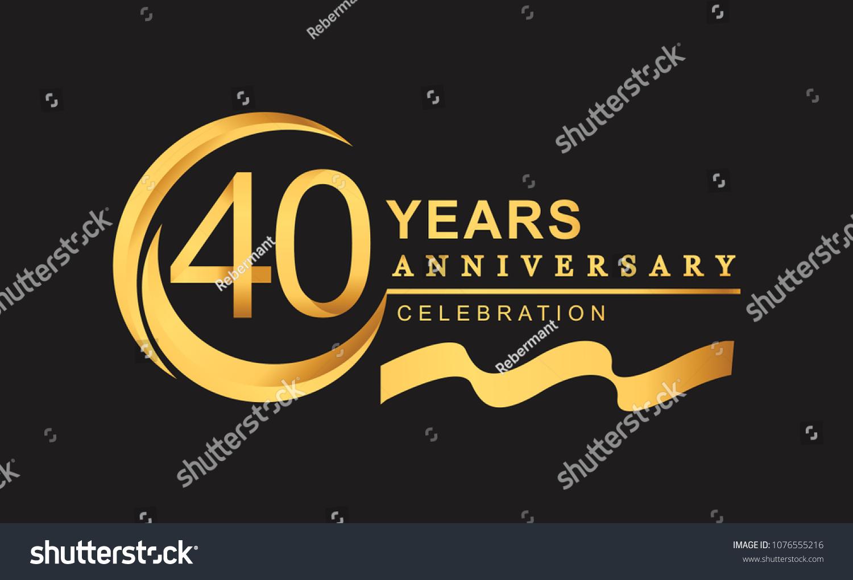Th anniversary design logotype golden color stock vector