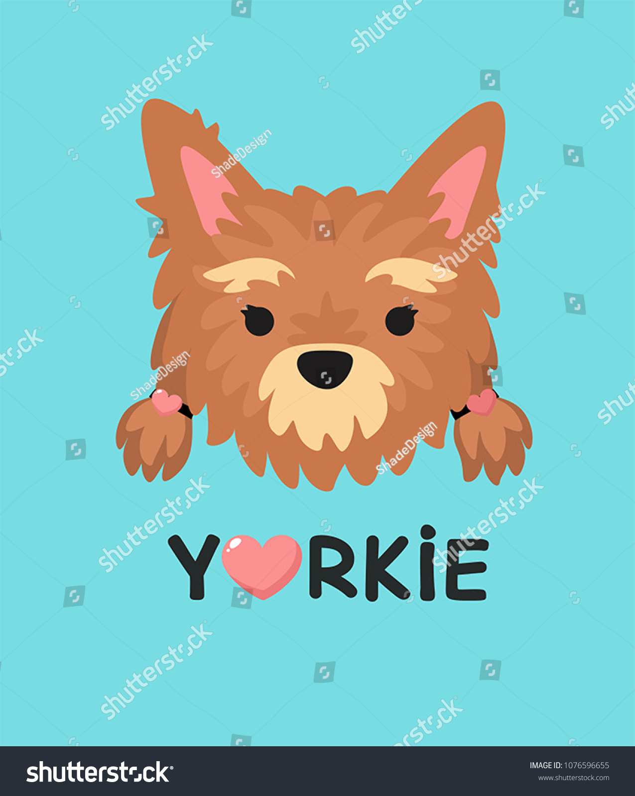 Vector Icon Dog Girl Yorkshire Terrier Stock Vector Royalty Free