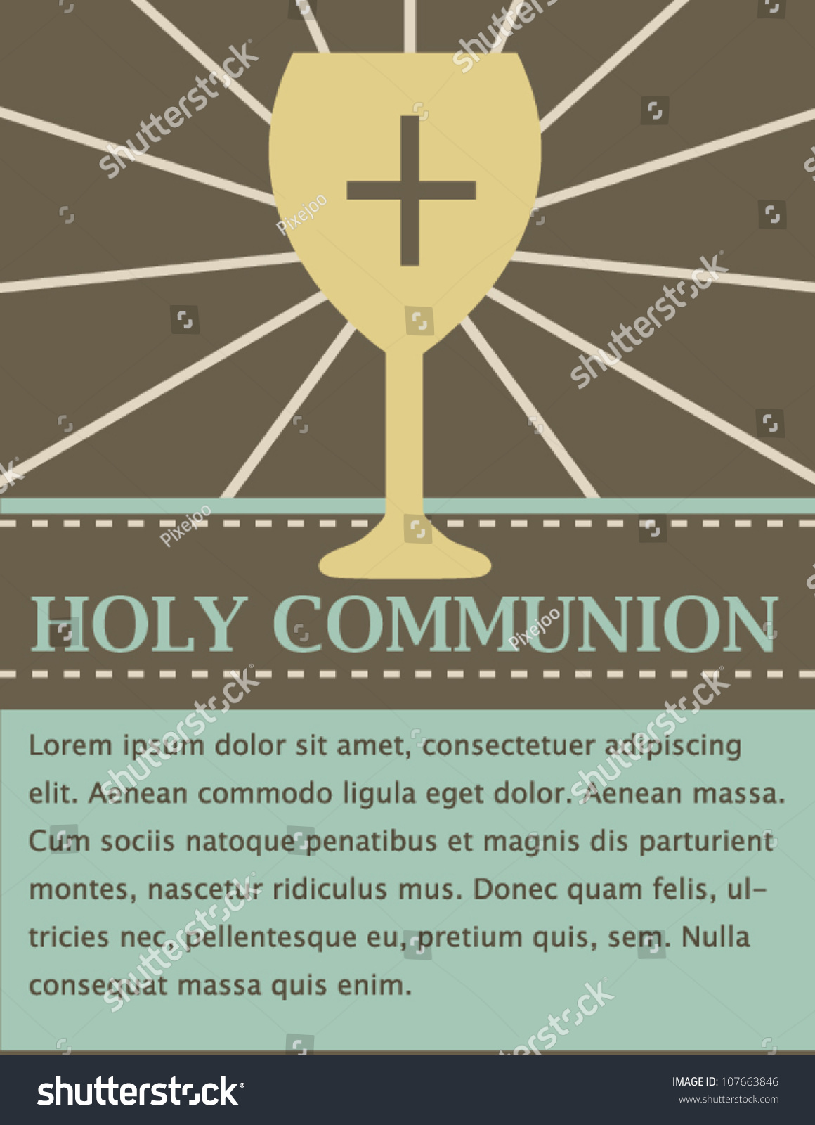Holy Communion Card Stock Vector Royalty Free 107663846 Shutterstock