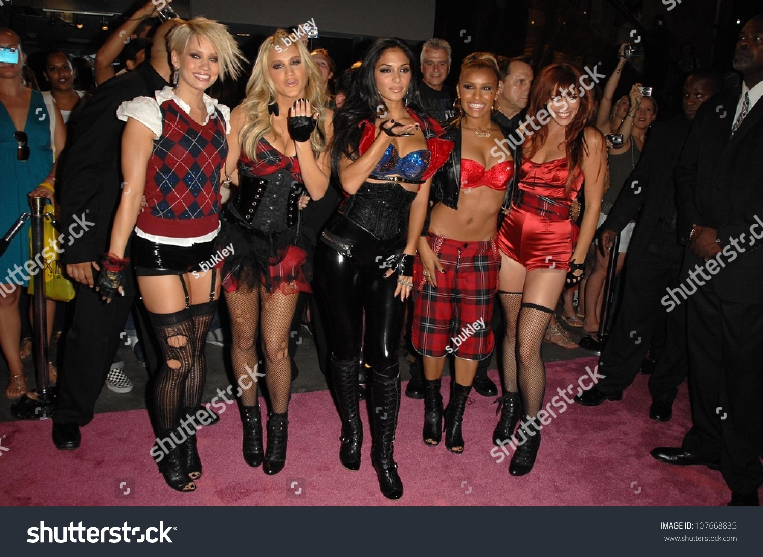 Pussycat Dolls at an concert to promote the new Pussycat Doll's album 'Doll  Domination'