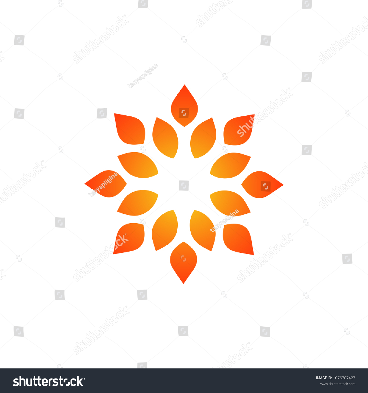 Template Creating Logo Form Curl Stylized Stock Vector 1076707427 ...