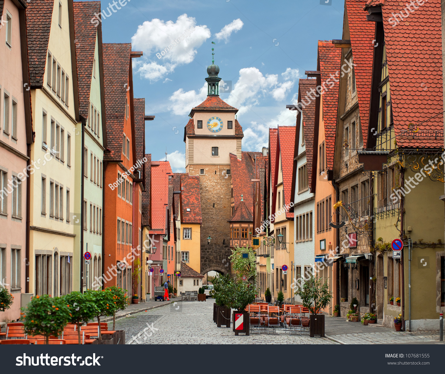 rothenburg ob der tauber old medieval stock photo 107681555 shutterstock. Black Bedroom Furniture Sets. Home Design Ideas