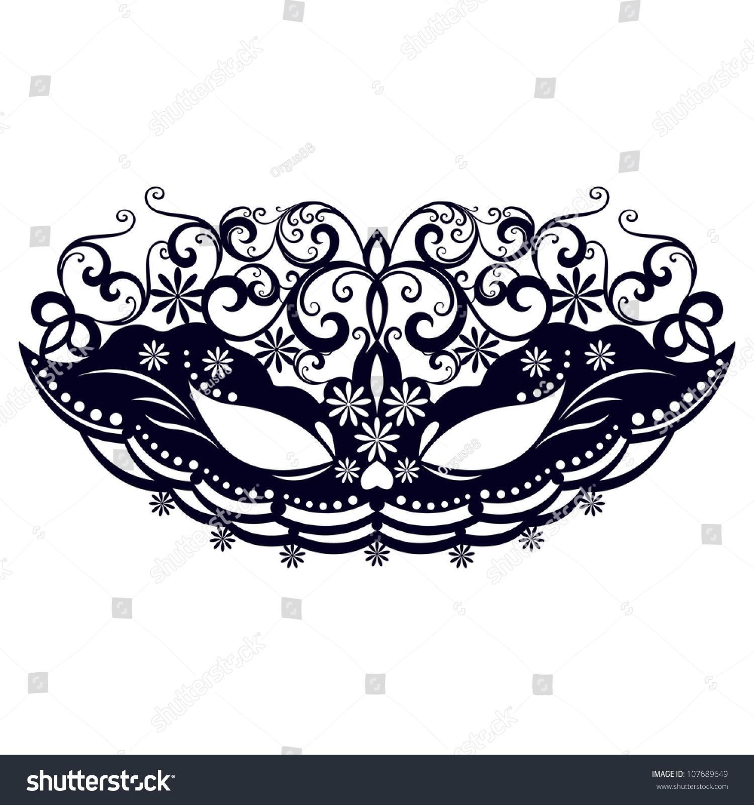 Masks For A Masquerade / Vector Party Mask / Vector ...  Masquerade Mask Vector